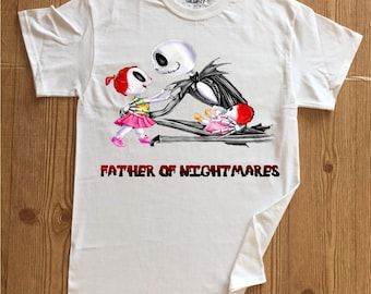 Men's Father of Nightmares 2 (two) girls  design t-shirt