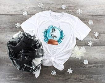 Christmas Let It Snow Globe design t-shirt