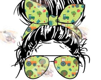 Sublimation TRANSFER FarmerWifeLife,  Farm wife, Farmer Wife, Farm Owner, Farm Life, Bun sunglasses life, Bun sunglasses wife,Ready To Press