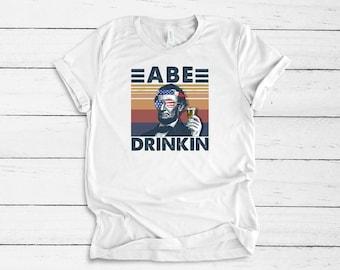 Ready forJuly 4th With Abe Drinkin....Shirt Bella Canvas tshirt