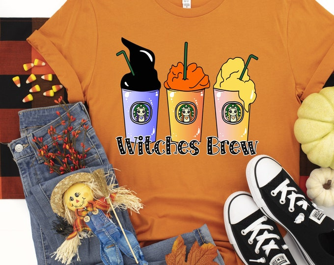Witches Brew Coffee Cups design t-shirt