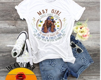 May Girl Birthday's Custom Each Month Available design t-shirt