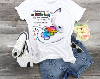 Autism Awareness And She Loved A Little Boy elephant t-shirt