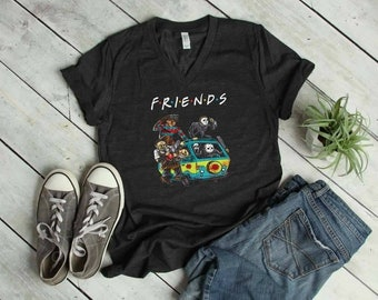 Friends, Halloween shirt, Scary Friends,  Your favorite Scary movie, Jason, Michael,  Scary movie shirt,  Halloween Scary Movies, love Scary