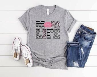 Mom Life..shirt Bella Canvas tshirt direct to garment