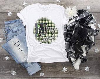 Christmas  Merry Christmas Green Plaid design t-shirt