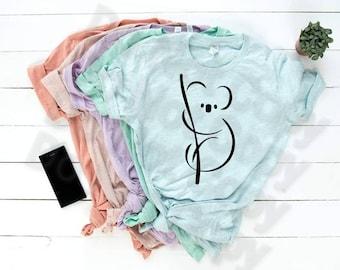 Fundraiser for the Koala.  Koala design, Women's Koala shirt, Girls Koala,  Cute Koala shir, Koala Gift, Bella Canvas t-shirt.