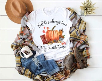 Adorable Fall Favorite Time Of The Year ...sublimation design t-shirt