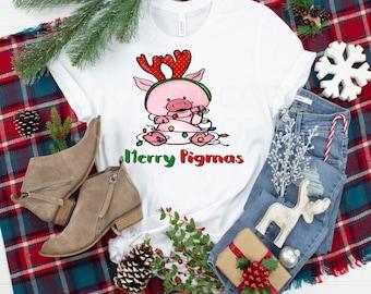 Merry Pigmas Christmas Pig design t-shirt
