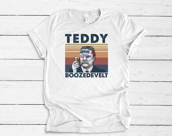 Ready forJuly 4th With Teddy Boozedevelt..shirt Bella Canvas tshirt