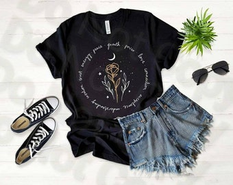 Growth Power Love, rose circle words,  inspirational shirt for women, love shirt for girls, girl power, ladies powers, inspirational art,