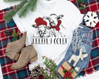 Winter Cows Udderly Cold...t-shirt.