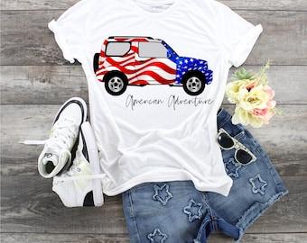 American Adventure Jeep  Patriotic  design