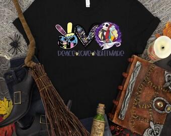 Peace Love Nightmare...shirt Bella Canvas t-shirt