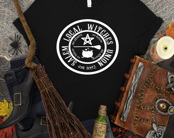 Salem Local Witches Union direct to garment Halloween