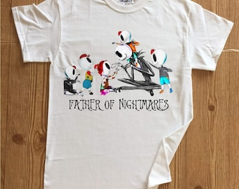 Men's Father of Nightmares 4 boys 1 girl, Customized shirt for Dad, Personalized Fathers Day Gift, Custom Gift For Fathers Day, Gift for Dad
