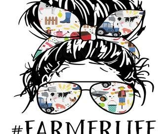 Sublimation TRANSFER FarmerLife, Farmer Life, Sun glasses and buns, Farm Girl, Farm Lady, Farm Woman, Varying Sizes Ready To Press varying