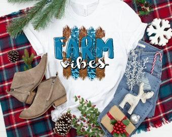 FARM VIBES..  design t-shirt