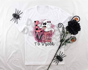 Halloween LOVE to Spook s design t-shirt YOUTH
