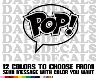 Funko Pop Decals 12 Colors to Choose with 4 sizes.