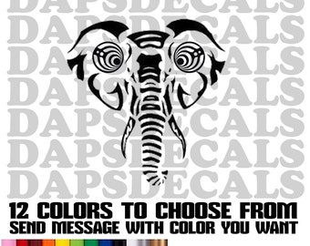 Bassnectar Bassdrop Elephant Decals, Tumbler Decals, Laptop Decal 3 sizes and 12 Colors to choose from.