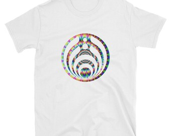 Bassnectar Psychedelic Bassdrop T-Shirt Short Sleeve 4 Colors to choose from.