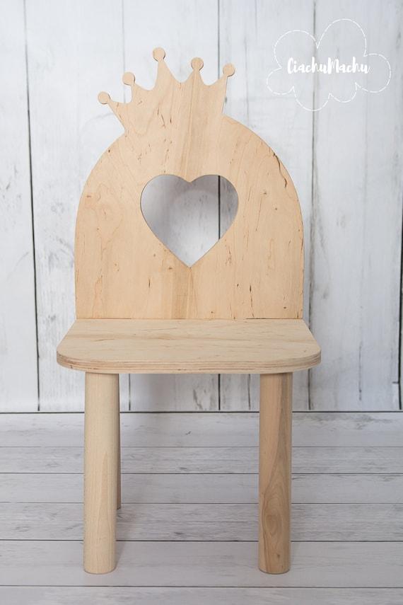 LITTLE QUEEN chair, Kids Furniture, Toddler Gift, Baby Furniture, Kids Chair, Baby Decor, Wooden Baby Chair