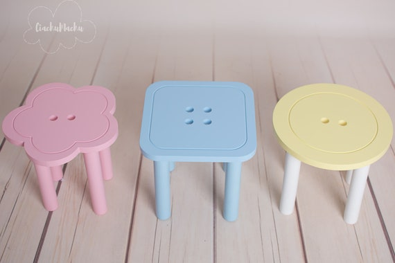 Miraculous Little Round Button Stool Kids Furniture Toddler Gift Baby Furniture Kids Chair Baby Decor Wooden Baby Chair Beatyapartments Chair Design Images Beatyapartmentscom