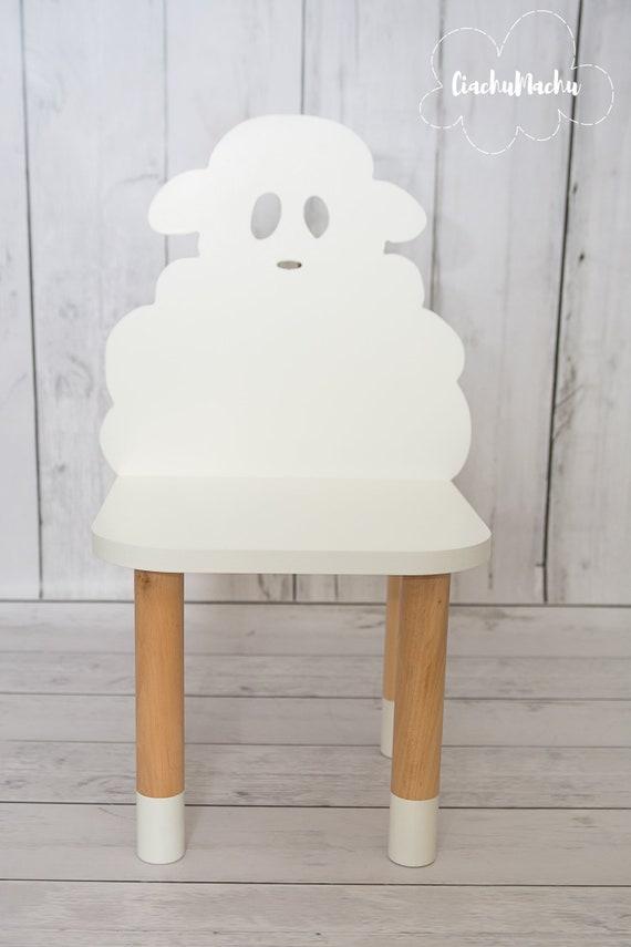 Petite Chaise De Moutons Enfants Meubles Cadeau Enfant Etsy