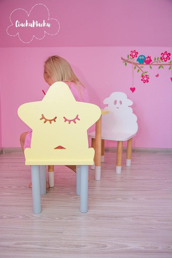 LITTLE STAR chair, Kids Furniture, Toddler Gift, Baby Furniture, Kids Chair, Baby Decor, Wooden Baby Chair