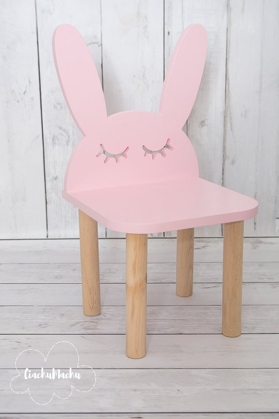 BUNNY chair, Kids Furniture, Toddler Gift, Baby Toddler Chair, Baby Furniture, Kids Chair, Baby Decor, Wooden Baby Chair