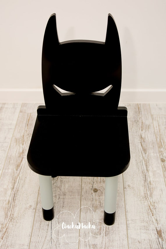 Terrific Batman Chair Kids Furniture Toddler Gift Baby Toddler Chair Baby Furniture Kids Chair Baby Decor Wooden Baby Chair Machost Co Dining Chair Design Ideas Machostcouk