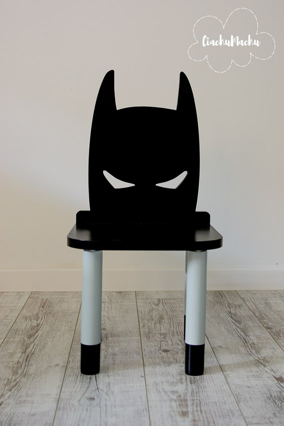 Fantastic Batman Chair Kids Furniture Toddler Gift Baby Toddler Chair Baby Furniture Kids Chair Baby Decor Wooden Baby Chair Machost Co Dining Chair Design Ideas Machostcouk