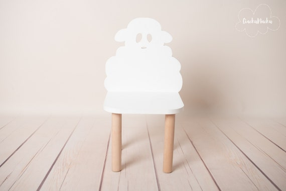 LITTLE SHEEP chair, Kids Furniture, Toddler Gift, Baby Toddler Chair, Baby Furniture, Kids Chair, Baby Decor, Wooden Baby Chair