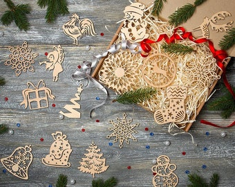 wooden christmas toy holiday decoration christmas tree toy - Christmas Tree Toy Decorations