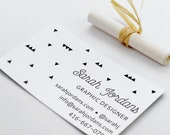 Business Card Rubber Stamp - Modern Minimal Business Card Stamp - DIY Business Card