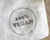 100% Vegan Stamp - Dietary Label Vegan Stamp