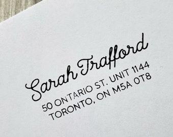 Hand Written Name Return Address Stamp - Custom Wedding Invitation Stamp