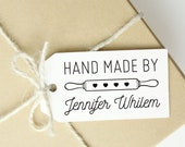 Hand Made By Stamp - Branding Rubber Stamp - DIY Shipping Packaging
