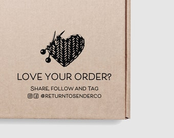 Love Your Order Stamp Knitting - Share Tag Follow Instagram Handle Shipping Stamp