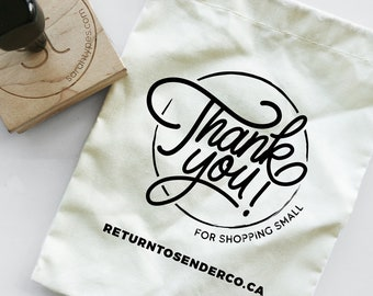 Thank You For Shopping Small - Website Instagram Handle Shipping Stamp