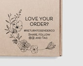 Love Your Order Stamp Floral - Share Tag Follow Instagram Handle Shipping Stamp