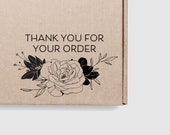 Thank You For Your Order Stamp Floral - Share Tag Follow Instagram Handle Shipping Stamp