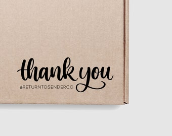 Thank You Instagram Handle Stamp - Share Tag Follow Instagram Handle Shipping Stamp