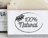 100% Natural Stamp - All Natural Organic Packaging Stamp