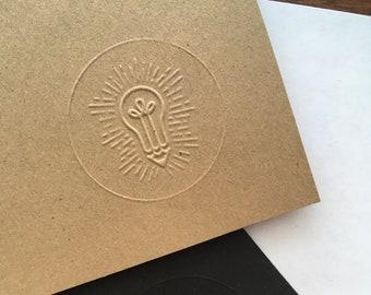 Custom Logo Embossing Stamp - Hand Held Logo Embosser - Custom Logo Stamp