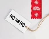 HO Ho HO Stamp - Hand Lettered Christmas Rubber Stamp - DIY Christmas Wrapping
