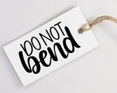 Do Not Bend Stamp - Hand Lettered Rubber Stamp - DIY Shipping Packaging