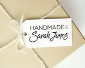 Hand Written Hand Made By Stamp - Branding Rubber Stamp - DIY Shipping Packaging