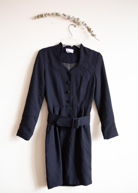 Vintage Black Laura Ashley Dress - image 2